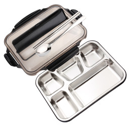 $enCountryForm.capitalKeyWord NZ - UPORS Lunch Box Containers With Compartments Portable Stainless Steel Lunch Box For Kids with Spoon Fork School Bento Lunch Box C18122201