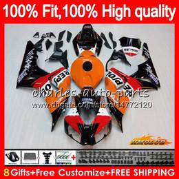 Wholesale OEM Injection Body For HONDA CBR 1000RR CBR1000 RR 06 07 78HC.0 CBR1000RR 06 07 CBR 1000CC 1000 RR 2006 2007 100%Fit Fairings Repsol orange