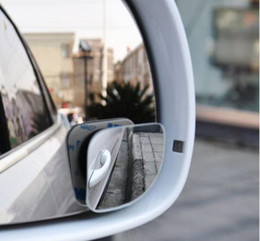 $enCountryForm.capitalKeyWord NZ - 2pcs lot Car Accessories Small Round Mirror Car Rearview Mirror Blind Spot Wide-angle Lens 360 degree Rotation Adjustable