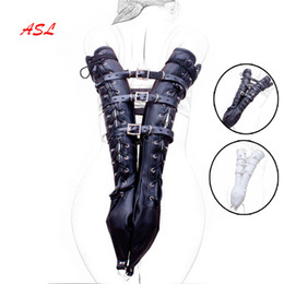 $enCountryForm.capitalKeyWord Australia - Arm Harness Armbinder Sleeve,pu Leather Double Arm Binder Gloves Adult Restraint, Arms Behind Back Accessories Games Sex Toys J190525