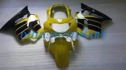 $enCountryForm.capitalKeyWord Australia - Light yellow Customized Fairing set for HONDA CBR600F4 99 00 CBR600 F4 1999 2000 CBR 600 F4 600F4 CBR600 yellow black Fairings body kit HP33