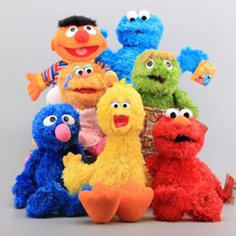 $enCountryForm.capitalKeyWord NZ - Sesame Street 7 Pieces Plush Hand Puppet Toy Elmo Cookie Monster Ernie Big Bird Grover Stuffed Dolls Kids Educational Toys Q190521