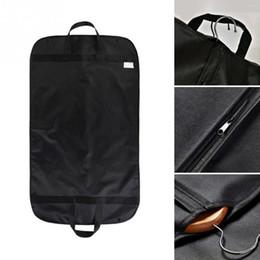 Dust Suits Australia - Professional Garment Dust Bag Cover Suit Dress Storage Non-woven Breathable Dust Cover Protector Travel Carrier Wholesales