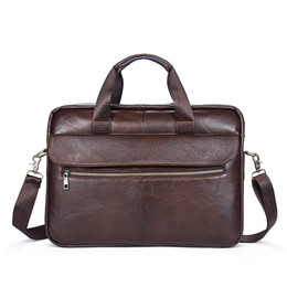 $enCountryForm.capitalKeyWord NZ - 2019 Rushed Sale Cell Phone Pocket Brand Genuine Leather Men Laptop Bag Briefcase Men's Business Bags Messenger For 1117