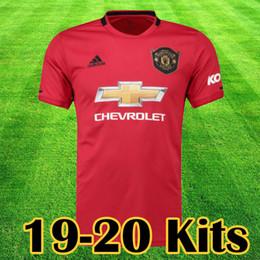 39ac4f3c334 Manchester 2019 2020 LUKAKU MARTIAL POGBA Pink united Soccer Jersey  RASHFORD Kids jerseys Man kit Football Shirt 19 20 Utd Tops equipment