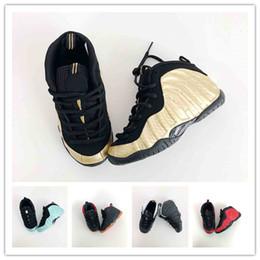 innovative design e2efc 0e3d0 (box)kids Foam one Abalone Habanero Red Floral Penny Hardaway Basketball  Shoes Black Metallic Gold Alternate Galaxy Fleece Sports Sneakers