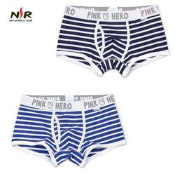 0bdd5cc981ef83 Pink Heroes Hot Men Underwear Boxers 5 Color Striped Cotton Men Boxer  Underwear Sexy Gay Men Shorts Boxer Cheap Panties 2pcs lot