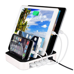 Wholesale Multi Function USB Charging Station Dock with Stand Holder Ports A USB Charger Holder For Mobile Phone Tablet PC US UK EU Plug