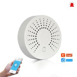 $enCountryForm.capitalKeyWord Australia - Smart Wifi Fire Alarm Smoke Sensor Wireless Smoke Detector for Automation Home Security Alarm System Smart life Tuya Smart APP