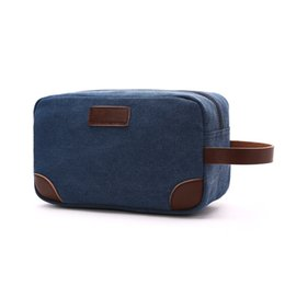$enCountryForm.capitalKeyWord Australia - Men Male Casual Canvas Solid Cosmetic Bag Portable Small Makeup Wash Bags Accessories Organizer Bags With Strap Key Pouch Holder
