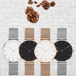 Mesh Jewelry Australia - ANSHOOR Women Simple Watches With Stainless Steel Mesh Bracelet 14mm Width 115mm Length Fit Keeper Slide Charms Bangle Jewelry SANSHOOR W...