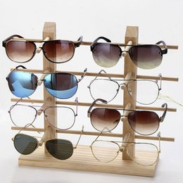 display show jewelry Canada - Hot Multi Layers Wood Sunglass Display Racks Shelf Eyeglasses Show Stand Jewelry Holder for Multi Pairs Glasses Showcase Women