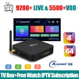 google iptv box Australia - 4G 64G TX6 Android 9.0 tv box with 1 year free abonnement IPTV service USA UK Spain France Latino Portugal Sports channel