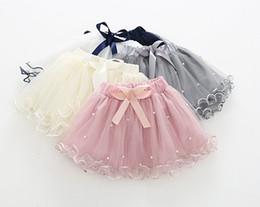 $enCountryForm.capitalKeyWord Canada - Girls Pearl Solid Color Tutu Skirts Summer 19 Kids Boutique Clothing Korean 2-7Y Little Girls Dancing Tutu Short Skirts