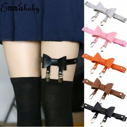 Wholesale US Sexy Women Leather Garter Body Harness Belt Strap Leg Ring Bowknot Suspenders