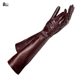 $enCountryForm.capitalKeyWord Australia - Free Shipping 2018 Winter Lady Fashion Sheepskin Leather Gloves Women Genuine Leather Mittens Female Long Stylearm Sleeve Zp001 MX190817