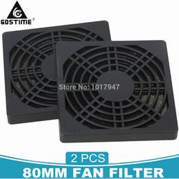 $enCountryForm.capitalKeyWord UK - pc case mini itx 2pcs lot Dustproof 80mm 8cm Case Fan Dust Filter Guard Grill Protector Cover PC Computer