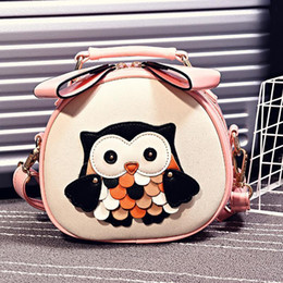 $enCountryForm.capitalKeyWord NZ - Nice Pop Vogues Cartoon Owl Women Mini Crossbody Bag Adorable Barrel-shaped Messenger Bags Handbag Pu Leather Girls Female Bag
