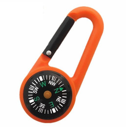 $enCountryForm.capitalKeyWord Australia - portable outdoor plastic mini climbing hooks climbing button carabiner with copass Multi-function quick hanging compass for hike camp
