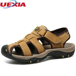 $enCountryForm.capitalKeyWord NZ - UEXIA Outdoor Walking Fashion Summer Leisure Beach Men Shoes High Quality Leather Sandals Slippers Sneakers Casual Big Size 47