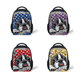 girls kindergarten bags NZ - Customized School Bags Children's Backpacks Infant Boston Terrier Printing Kids Bag for Girls Kindergarten School Satchel 2019