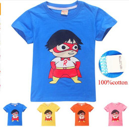 Cotton mask for kids online shopping - Ryan Toys Review Mask Girls Boys T Shirts Summer Cartoon Print T shirt Tops Tee Shirt Cotton For Kids Clothing Girls Tops Clothes