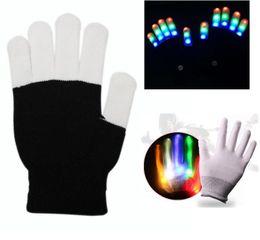 Wholesale raving gloves for sale – custom Led light gloves stage performances props led Finger Lighting up Gloves Halloween ghost skull gloves led rave toy party cosplay