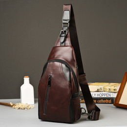 Discount mad dresses - Mad horse PU leather chest bag leisure men and women outdoor sports Korean version of the trend one shoulder men slanted
