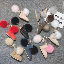 Small Compass Pendant NZ - Snow boots keychain mini plush small shoes car keychain ladies bag pendant fashion accessoriesYou deserve it
