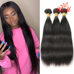 Indian Products Australia - U.M Products 100% Human Hair Extensions Indian Virgin Human Hair Bundles Natural Color 8-28inches Can Be Mixed Length Dyable and Bleacheable