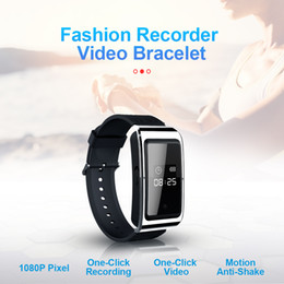 watch hd 8gb UK - HD 1080P Smart bracelet mini Camera 8gb 16gb 32gb Wearable smartband Video camera Digial watch voice recorder in retail box