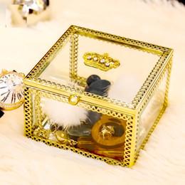 $enCountryForm.capitalKeyWord Australia - Luxury Watch Boxes Glass watch boxes Mens For Watch Box Woman's Men Watches Boxes Gold display box storage box
