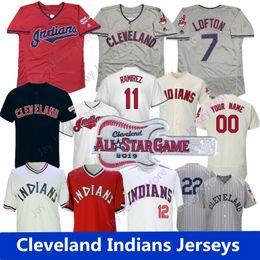 252e090b2 IndIan baseball jerseys online shopping - 2019 Cleveland Lindor Jersey  Indians Lofton Thome Ricky Vaughn Zimmer