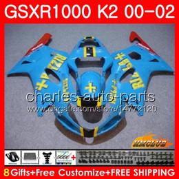 Gsxr rizla fairinG kits online shopping - Bodys For SUZUKI GSXR GSX R1000 GSXR1000 Frame HC RIZLA blue new GSX R1000 K2 GSXR Fairing kit