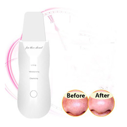 Peeling ultrasonic online shopping - USB Rechargeable Ultrasonic Face Skin Scrubber Facial Cleaner Peeling Vibration Blackhead Removal Exfoliating Pore Cleaner Tools