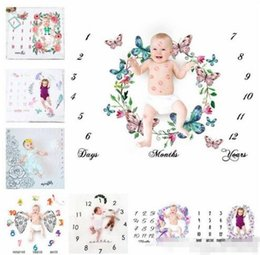Background Prints Australia - 29 types newborn baby photography background props baby photo fabric backdrops infant blankets wrap letter flower numbers print cloth B11