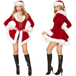 cosplay costumes corsets Australia - Woman Sexy Long Sleeves Christmas Dress Women Cosplay Costumes Plush Costumes Women Corset Halloween Christmas Cosplay Dress