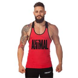 $enCountryForm.capitalKeyWord Australia - New Printed Animal Letter 2018 Mens Tank Tops Sleeveless Tanktops Bodybuilding Fitness Men's Gyms Singlets Workout Clothes C19040301