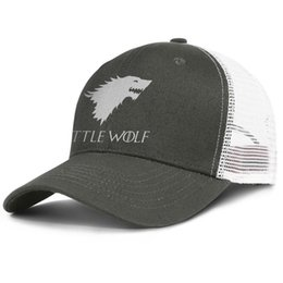 Little Hats Australia - Popular Mesh Trucker caps Men Women-Game of Thrones One Piece Little Wolf designer hats snapback Adjustable Golf hats Outdoor