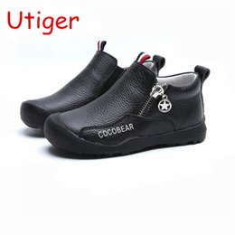 $enCountryForm.capitalKeyWord NZ - Boys Cow Genuine Leather Shoes casual Baby Tollder kids Shoes for boys Sneaker Brand soft Insole children trainer B154