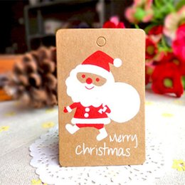 christmas ornament crafts NZ - 50pcs Christmas Decorations for Home Santa Claus Tag Merry Christmas Tree Ornaments Xmas DIY Crafts Label Natal New Year's Decor