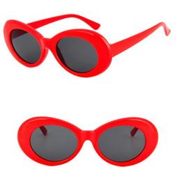 hot trendy sunglasses 2019 - Goggle Kurt Cobain Glasses Oval sunglasses Ladies Trendy 2019 hot Vintage Retro Sunglasses Women's white black eyew