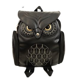 Hot Backpacks Australia - good quality Fashion Women Backpack 2019 Newest Stylish Cool Black Pu Leather Owl Backpack Female Hot Sale Women Shoulder Bag School