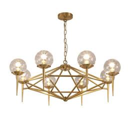 Chinese  American magic bean molecular glass ball creative chandelier Nordic E27 6 8 heads lamp living room restaurant Home Lighting manufacturers