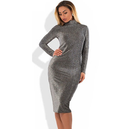 Chinese  Bodycon Bandage Dress Metallic Knitted Party Dress Christmas Big Size Winter 5XL 6XL Women Plus Size Women Clothing manufacturers