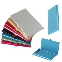 5305b2921d6 Aluminum Business Card Holder Case Stainless Steel Slim Metal Box Cover for  Men Credit Card Holders Metal Wallet