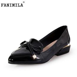 0ef80a091e Designer Dress Shoes FANIMILA Size 35-43 Elegant Woman Bowknot High Heels  Women Pointed Toe Lace Bowtie Pumps Summer Party Club Footwears