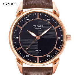 $enCountryForm.capitalKeyWord Australia - Yazole Leisure Time Concise Male Surface Quartz Wrist-watches Quartz Wrist Watch Gift Wrist Watch Male Skin