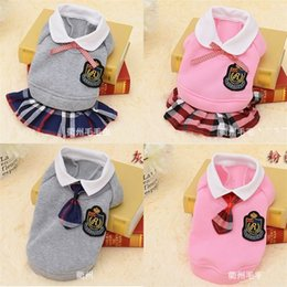 Wholesale school uniforms clothing resale online - Pet Clothes Doggy School Uniform Dog Apparel Tactic Dog Fashion Pet Supplies Male And Female With Different Color mm J1