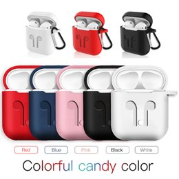 Wholesale For Airpods Apple Wireless Headphones Auriculares Rubber Case Fone de ouvido Soft Silicone Cover for Airpods iPhone Charging Box
